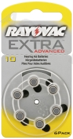 Extra Advanced PR70/10A - Zink-Luft Hörgeräte-Knopfzelle, 1,4 V
