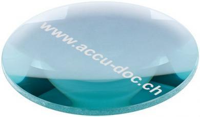 Lupenleuchten Ersatzlinse, 100 mm, Transparent-Blau - 100 mm, 2,25x Vergrößerung, +5 Dioptrien
