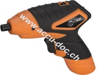 Akkuschrauber 3,6 V mit LED-Leuchte, Schwarz-Orange - für den Heimwerker zu Hause