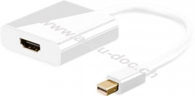 Mini DisplayPort/HDMI™ Adapterkabel 1.2, vergoldet, 0.1 m, Weiß - Mini DisplayPort-Stecker > HDMI™-Buchse (Typ A)
