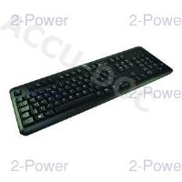 USB Keyboard for PC - UK (Black Bezel) R