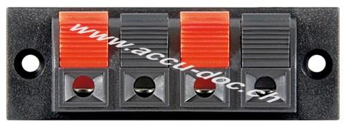 Lautsprecher Terminal - 4 pol Klemmleiste, rot/schwarz