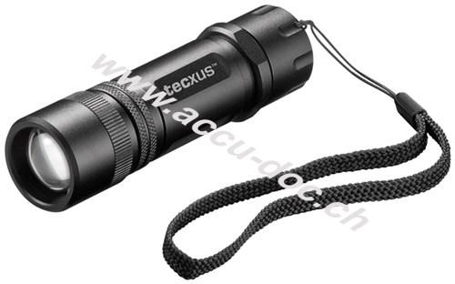rebellight X130, Schwarz - kompakte und fokussierbare LED-Taschenlampe mit Dimmfunktion