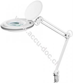 LED Klemm-Lupenleuchte7,5 W, Weiß - 127 mm Glaslinse, 1,75x Vergrößerung, 3 Dioptrien, 520 Lumen