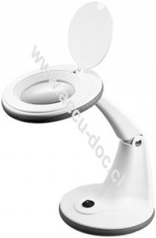 LED Stand-Lupenleuchte, 5 W, Weiß - 100 mm Glaslinse, 1,75x Vergrößerung, 3 Dioptrien, 450 Lumen