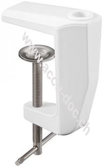 Lupenleuchten Ersatztischklemme, Weiß - 0 mm - 60 mm, massiv Metall, weiß