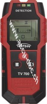 Digitaler Wandscanner TV 700, Rot-Schwarz - überprüft Bohrstellen zuverlässig auf Hindernisse